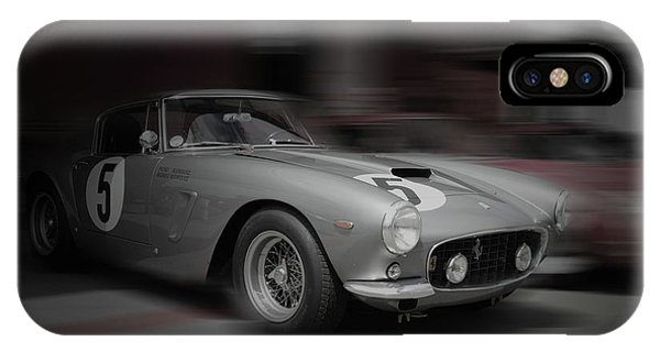 Monterey iPhone Case - Ferrari 250 Gtb Before The Race by Naxart Studio