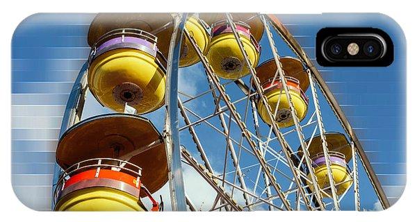 Ferris Wheel On Mosaic Blurred Background IPhone Case