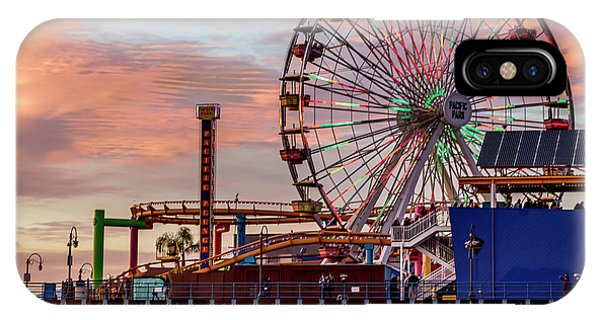 Ferris Wheel On The Pier - Square IPhone Case