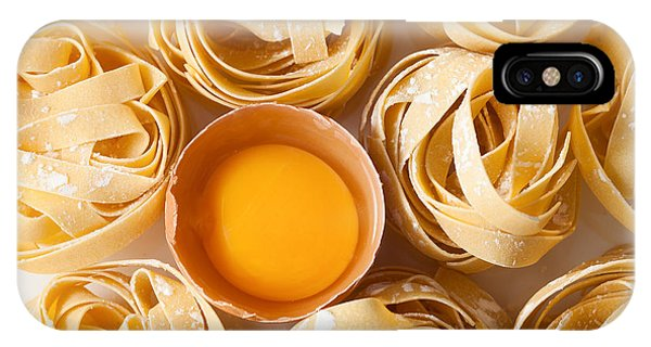 Eggs iPhone Case - Fettuccine Pasta Italian Food Still by Rukxstockphoto