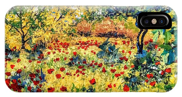 IPhone Case featuring the painting Field Of Poppies by Ray Khalife