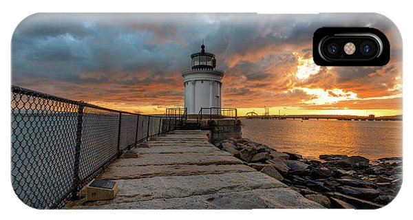 Fiery Skies At Bug Light IPhone Case