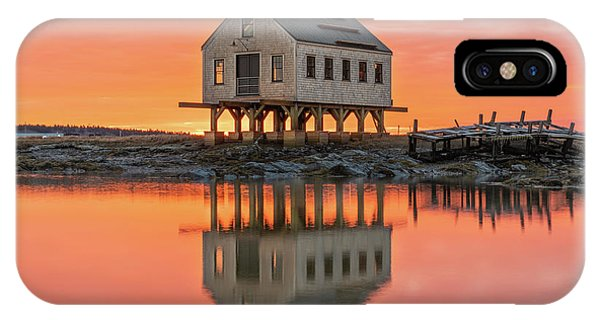 Fiery Skies At Cape Porpoise IPhone Case