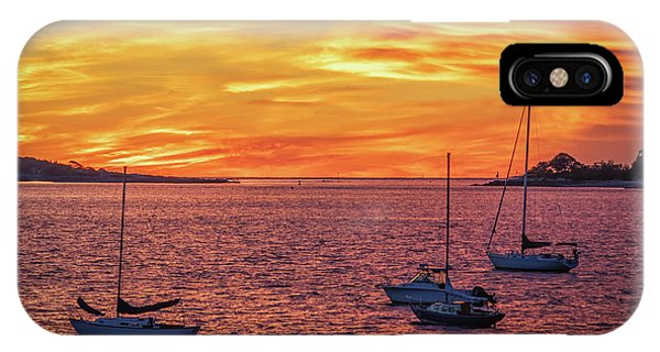 Fiery Sunrise Over Casco Bay IPhone Case