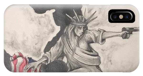 Patriot iPhone Case - Fighting For Liberty  by Howard King