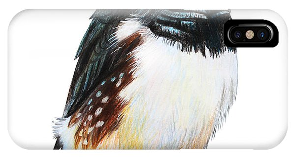 Orange Color iPhone Case - Finches Bird Drawing Taeniopygia Guttata by Viktoriya art