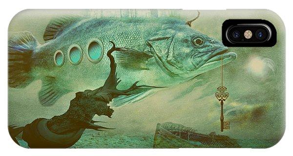 IPhone Case featuring the digital art Finding Captain Nemo by Alexa Szlavics