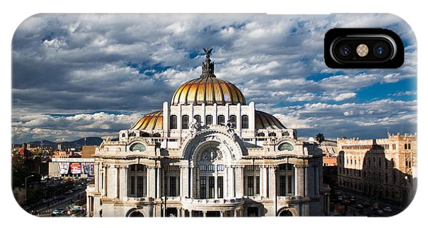 Dome iPhone Case - Fine Arts Museum, Mexico-city, Mexico by Elhielo