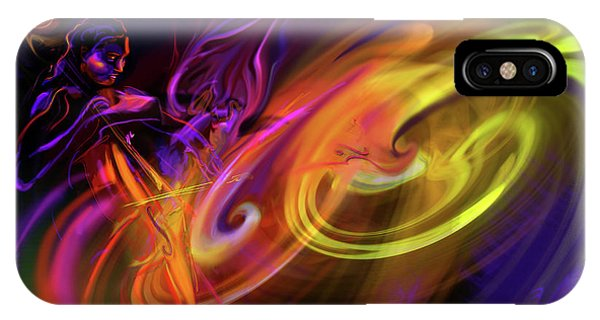 Cellist In Space IPhone Case