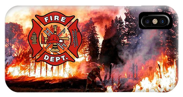 Fire Fighting 3 IPhone Case