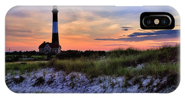Long Beach Island iPhone Case - Fire Island Lighthouse by Rick Berk