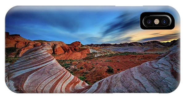 Valley Of Fire iPhone Case - Fire Wave Iv by Rick Berk