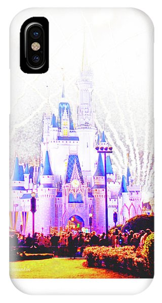 Fireworks, Cinderella's Castle, Magic Kingdom, Walt Disney World IPhone Case
