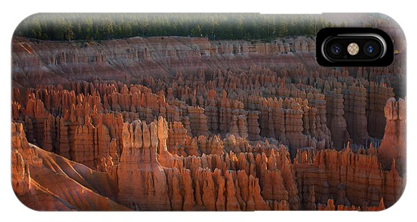 IPhone Case featuring the photograph First Light On The Hoodoo Inspiration Point Bryce Canyon National Park by Nathan Bush