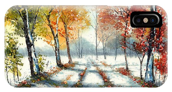 Growth iPhone Case - First Snow by Suzann Sines