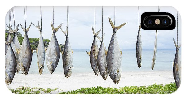 Fisherman iPhone Case - Fish Preservation By Drying In Thailand by Chirawan Thaiprasansap
