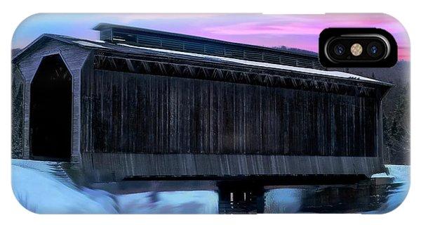 Fisher Raiilroad Covered Bridge Wolcott Vermont. IPhone Case