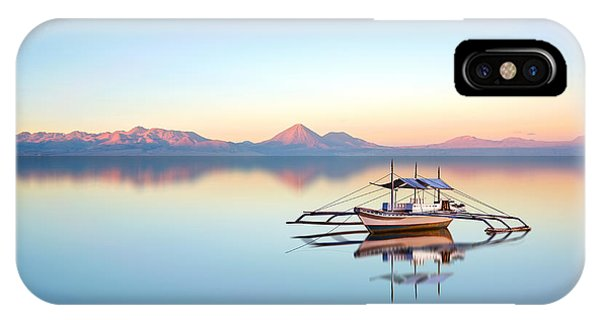Fishing Boat iPhone Case - Fishing Boat On Philippine Ocean On A by Arlo Magicman