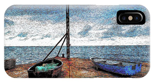 Dorset iPhone Case - Fishing Boats by Ronald Bolokofsky