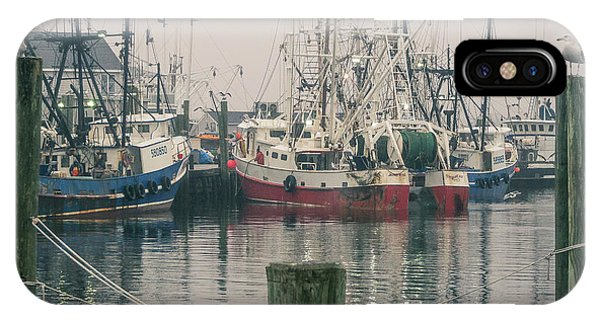 IPhone Case featuring the photograph Fishing Boats by Steve Stanger