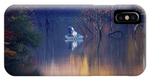 IPhone Case featuring the photograph Fishing In The Fall by Mike Murdock