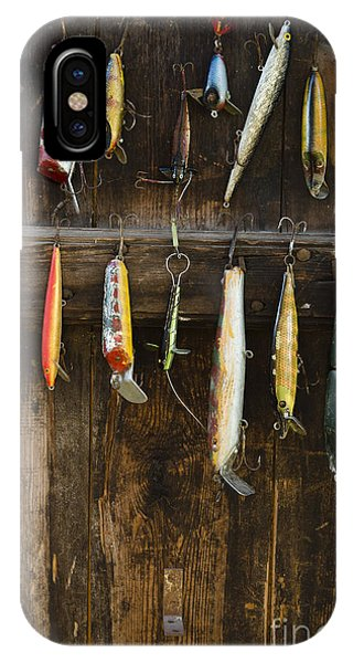 Swedish iPhone Case - Fishing Lure Hanging On Wall, Sandham by Bmj