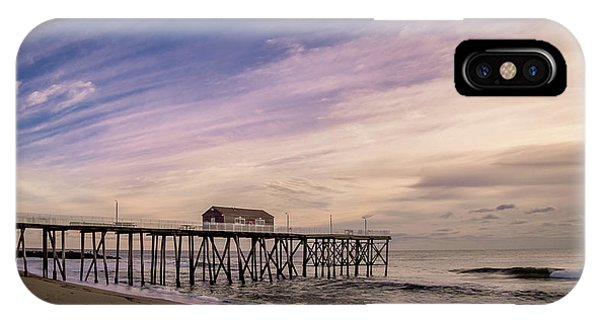 IPhone Case featuring the photograph Fishing Pier Sunrise by Steve Stanger