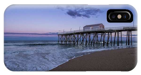 IPhone Case featuring the photograph Fishing Pier Sunset by Steve Stanger