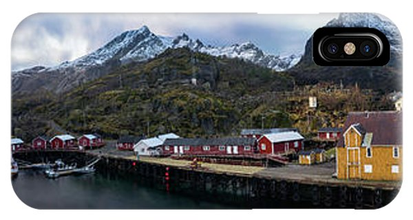 Fishing Village A On Lofoten IPhone Case