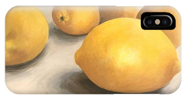 iPhone Case - Five Lemons  by Torrie Smiley