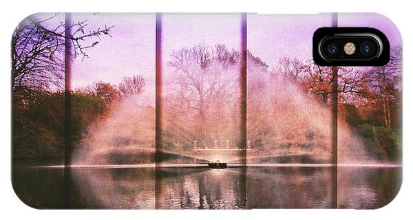 Treeline iPhone Case - Five Panel Water Fountain by Jason Fink