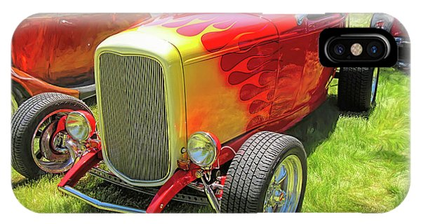 Flamed Red 1932 Ford Roadster IPhone Case