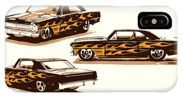 Design iPhone Case - Flamin Chevrolet 66 Nova by Jorgo Photography - Wall Art Gallery