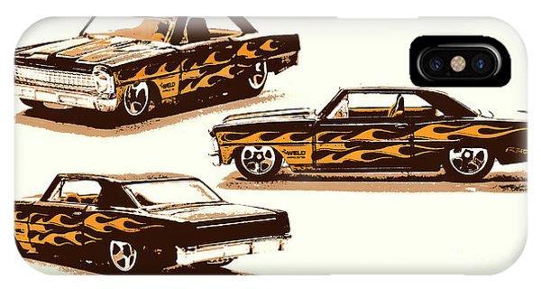 iPhone Case - Flamin Chevrolet 66 Nova by Jorgo Photography - Wall Art Gallery