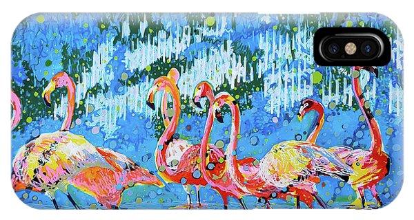 Flamingo Pat Party IPhone Case