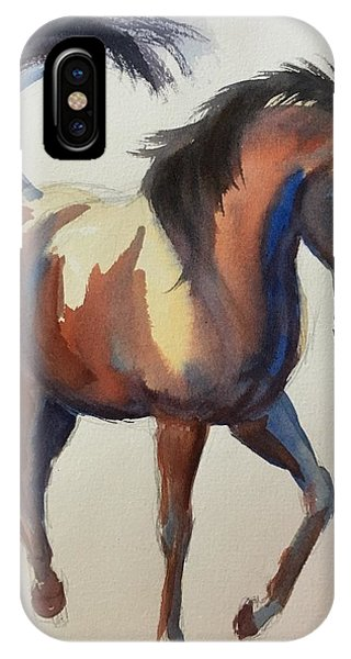 Flashing Bay Horse IPhone Case