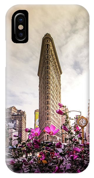Buildings iPhone Case - Flatiron And Flowers by Nicklas Gustafsson
