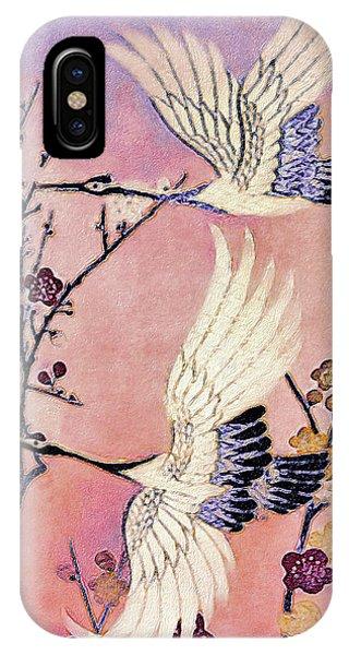 Flight Of The Cranes - Kimono Series IPhone Case