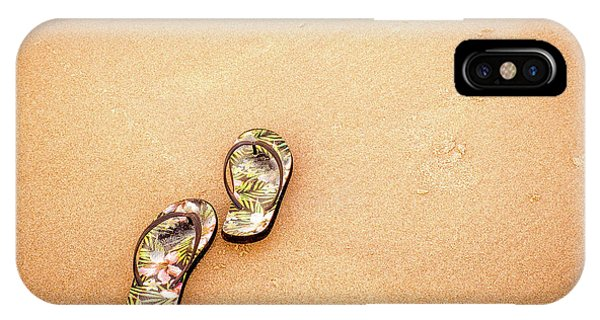 Flip-flops On The Sand. IPhone Case