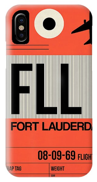 Travel iPhone Case - Fll Fort Lauderdale Luggage Tag I by Naxart Studio