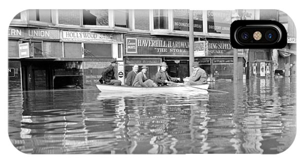 Damage iPhone Case - Flood In Haverhill Massachusetts  January 1937 by Celestial Images