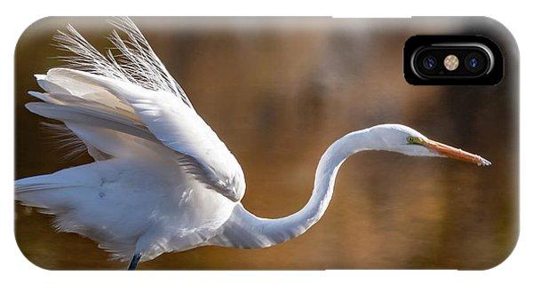Floofy Egret IPhone Case