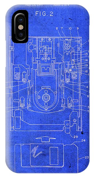 Office iPhone Case - Floppy Disk Computer Patent by Design Turnpike