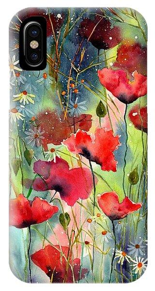 Hummingbird iPhone Case - Floral Abracadabra by Suzann Sines