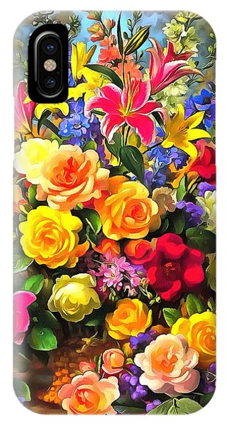 Floral Bouquet In Acrylic IPhone Case