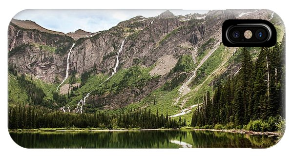 Floral Park Falls Monument Falls Avalanche Basin Falls Across Avalanche Lake Glacier National Park IPhone Case