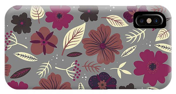 Imagery iPhone Case - Floral Seamless Pattern. Colored by Maria Sem