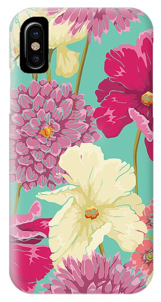 Ornamental iPhone Case - Floral Seamless Pattern With Flowers In by Hoverfly