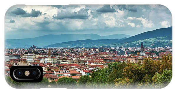 Florentine Cityscape From The Boboli Gardens IPhone Case