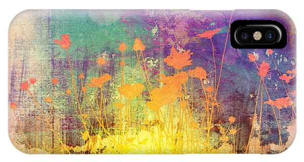 Mottled iPhone Case - Flower Abstract Textures And Backgrounds by Ilolab